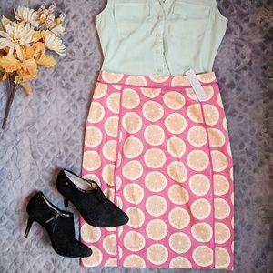 DownEast Citrus Spring Pencil Skirt